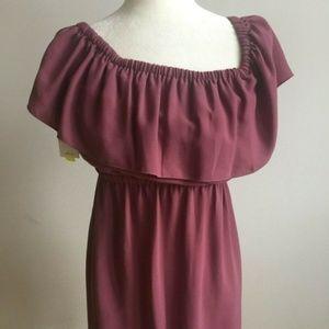 "wilfred Aritzia dusty rose ""Hosta"" dress BNWT $125"